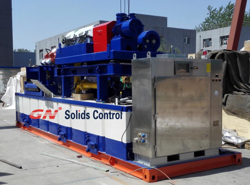 Drilling waste centrifuge system